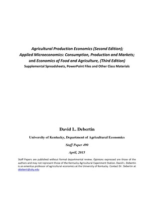 Agricultural Economics Textbook Gallery, University of Kentucky