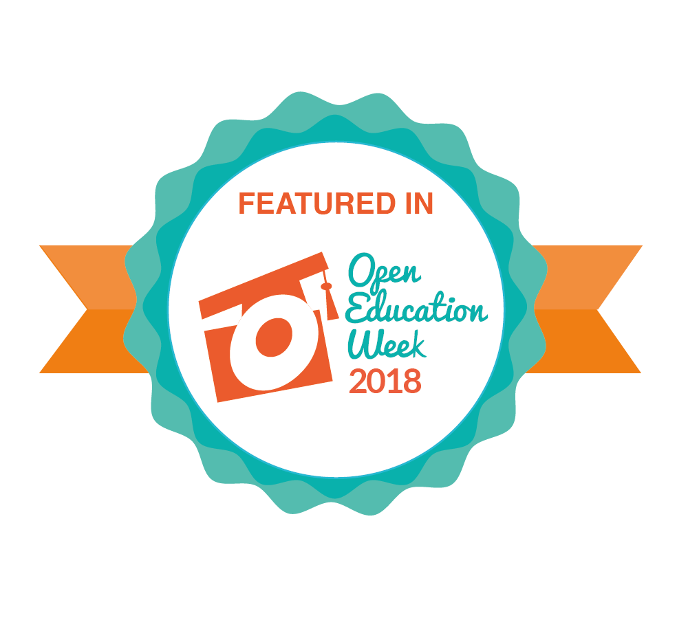 Open Education Week 2018 badge