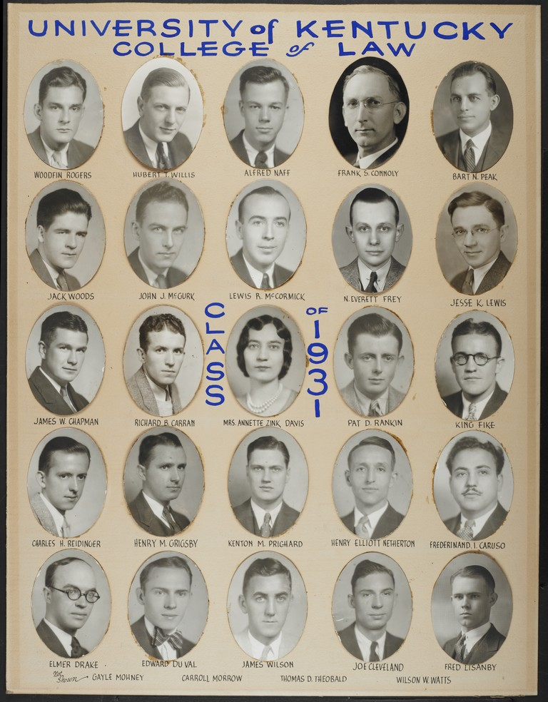 College of Law Class of 1931