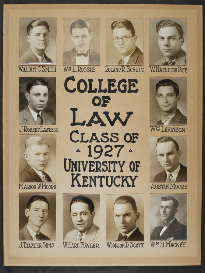 College of Law Class of 1927