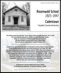 February 2: Cadentown Rosenwald School by Kopana Terry