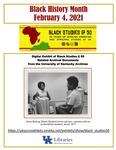 February 4: University of Kentucky Black Studies @50 by Ruth E. Bryan