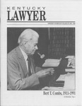 Kentucky Lawyer, 1992 by University of Kentucky College of Law