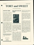 Tort & Sweet: An Occasional Law Library Newsletter, December 1995