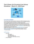 Tort & Sweet: An Occasional Law Library Newsletter, March 31, 2020 by University of Kentucky Law Library