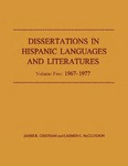 Dissertations in Hispanic Languages and Literatures: Volume Two: 1967–1977