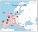 Map of the European Economic Community Countries--1980s by Brad Allard