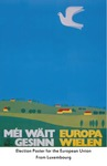 Election Poster for First EU Election by Brad Allard