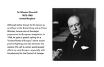 Founding Father: Winston Churchill (1874-1965), United Kingdom by Brad Allard