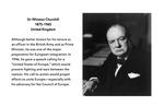 Founding Father: Winston Churchill (1874-1965), United Kingdom