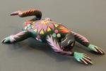 Black Floral Lizard