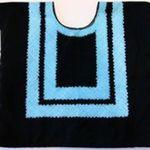 Black Velvet with Aqua Stitching by Francie Chassen-López