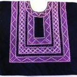 Black Velvet with Purple Stitching by Francie Chassen-López