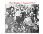 Pancho Villa and Emiliano Zapata in Presidential Chair