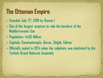 Facts about the Ottoman Empire