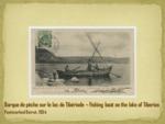 Barque de pèche sur le lac de Tibériade