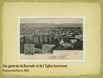 Vue générale de Beyrouth et de l'Eglise Americane