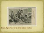 Ziganes lisant sur les Cartes la bonne Aventure